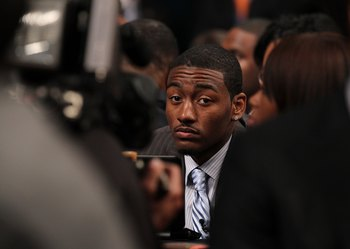 NEW YORK - JUNE 24:  John Wall of Kentucky waits to be drafted first by The Washington Wizards at Madison Square Garden on June 24, 2010 in New York, New York.  (Photo by Al Bello/Getty Images)