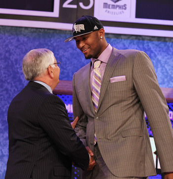 NEW YORK - JUNE 24:  DeMarcus Cousins stands with NBA Commisioner David Stern after being drafted fifth by  The Sacramento Kings at Madison Square Garden on June 24, 2010 in New York, New York.  (Photo by Al Bello/Getty Images)
