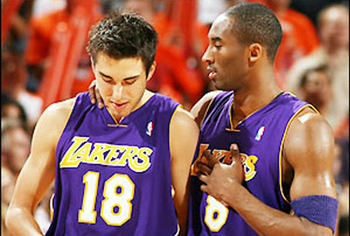 Kobe Bryant and Sasha Vujacic