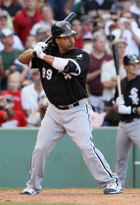 BOSTON - SEPTEMBER 05:  Manny Ramirez #99 of the Chicago White Sox pinch hits in the eighth inning against the Boston Red Sox on September 5, 2010 at Fenway Park in Boston, Massachusetts.  (Photo by Elsa/Getty Images)