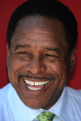 ANAHEIM, CA - JULY 13:  Hall of famer Dave Winfield speaks to the media prior to the 81st MLB All-Star Game at Angel Stadium of Anaheim on July 13, 2010 in Anaheim, California.  (Photo by Lisa Blumenfeld/Getty Images)