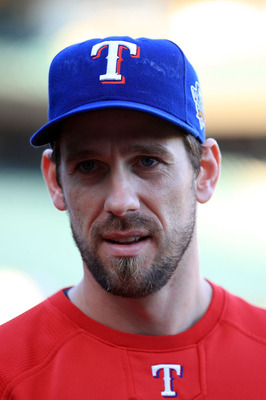 SAN FRANCISCO - OCTOBER 26:  Cliff Lee #33 of the Texas Rangers stands on the field during a workout session at AT&T Park on October 26, 2010 in San Francisco, California. The Texas Rangers will face off against the San Francisco Giants in Game One of the