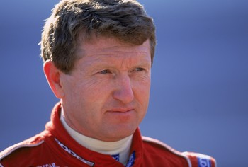 19 Oct 2001:  Bill Elliott looks on at the action during the EA Sports 500, part of the NASCAR Winston Cup Series at the Talladega Superspeedway in Talladega, Alabama.Mandatory Credit: Jamie Squire  /Allsport