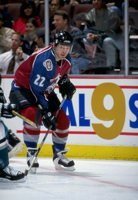 14 Jan 1998:  Right wing Claude Lemieux of the Colorado Avalanche in action during a game against the Anaheim Mighty Ducks at Arrowhead Pond in Anaheim, California.  The Avalanche won the game 2-0. Mandatory Credit: Elsa Hasch  /Allsport