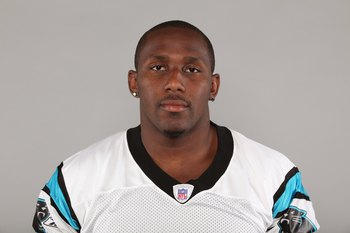 CHARLOTTE, NC - 2009:  Thomas Davis of the Carolina Panthers poses for his 2009 NFL headshot at photo day in Charlotte, North Carolina. (Photo by NFL Photos)