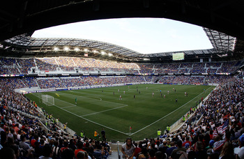 HARRISON, NJ - AUGUST 14:  A general view of Red Bull Arena during the match between the New York Red Bulls and the Los Angeles Galaxy on August 14, 2010 at Red Bull Arena in Harrison, New Jersey.  (Photo by Mike Stobe/Getty Images for New York Red Bulls)