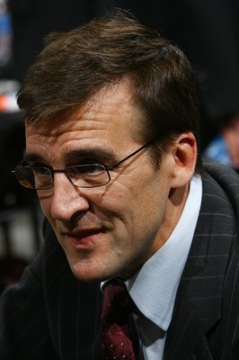 OTTAWA, ON - JUNE 20: George McPhee of the Washington Capitals photographed during the 2008 NHL Entry Draft at Scotiabank Place on June 20, 2008 in Ottawa, Ontario, Canada. (Photo by Bruce Bennett/Getty Images)