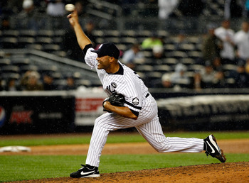NEW YORK - SEPTEMBER 26:  Mariano Rivera #42 of the New York Yankees delivers a pitch in the ninth-inning against the Boston Red Sox on September 26, 2010 at Yankee Stadium in the Bronx borough of New York City. The Yankees won 4-3.  (Photo by Mike Stobe/