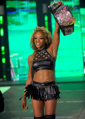 Alicia Fox as Divas champion, photo copyright to WWE.com