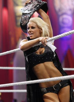 Maryse as Divas champion, photo copyright to WWE.com