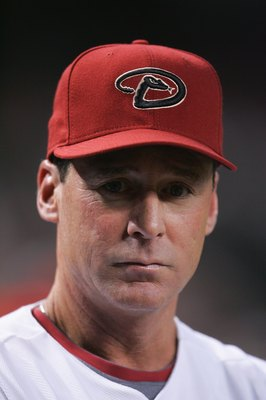 PHOENIX - APRIL 7:  Manager Bob Melvin of the Arizona Diamondbacks looks on during the game against the Los Angeles Dodgers at Chase Field on April 7, 2008 in Phoenix, Arizona. (Photo by Jeff Gross/Getty Images)