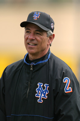 28 Feb 2002 : Manager Bobby Valentine  of the New York mets during the Spring Training game against the St.Louis Cardinals at Roger Dean Stadium in Jupiter, Florida. The Cardinals won 5-2. DIGTAL IMAGE. Mandatory Credit: Eliot Schechter/Getty Images