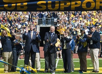 Rededicating Michigan Stadium in 2010