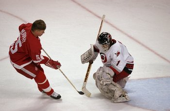 23 Jan 1999:  Larry Murphy #55 show his Super Skills during the 1999 All-Star Weekend at the Ice Palace in Tampa, Florida. Mandatory Credit: Elsa Hasch  /Allsport