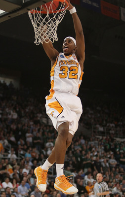 PROVIDENCE, RI - MARCH 20:  Scotty Hopson #32 of the Tennessee Volunteers dunks the ball in the second half against the Ohio Bobcats during the second round of the 2010 NCAA men's basketball tournament on March 20, 2010 at the Dunkin Donuts Center in Prov