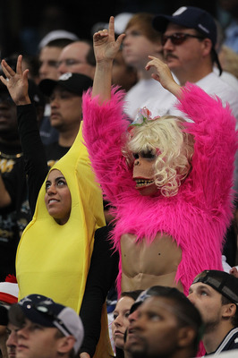 ARLINGTON, TX - OCTOBER 31:  Fans attend the game, wearing Halloween costumes, between  the Dallas Cowboys and the Jacksonville Jaguars at Cowboys Stadium on October 31, 2010 in Arlington, Texas.  (Photo by Ronald Martinez/Getty Images)