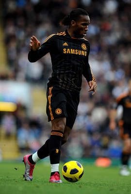 BLACKBURN, ENGLAND - OCTOBER 30:  Didier Drogba of Chelsea in action during the Barclays Premier League match between Blackburn Rovers and Chelsea at Ewood Park on October 30, 2010 in Blackburn, England.  (Photo by Mike Hewitt/Getty Images)