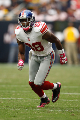 HOUSTON - OCTOBER 10:  Hakeem Niks #88 of the New York Giants in action during the game against the Houston Texans at Reliant Stadium on October 10, 2010 in Houston, Texas.  (Photo by Chris Graythen/Getty Images)