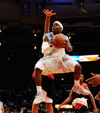 NEW YORK - APRIL 17:  Josh Selby #32 of West Team goes up for a shot against East Team during the National Game at the 2010 Jordan Brand classic at Madison Square Garden on April 17, 2010 in New York City.  (Photo by Jeff Zelevansky/Getty Images for Jorda