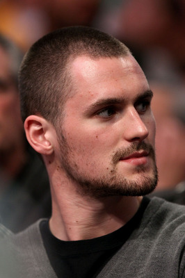 LOS ANGELES, CA - JUNE 06:  Kevin Love of the Minnesota Timberwolves attends Game Two of the 2010 NBA Finals between the Boston Celtics and the Los Angeles Lakers at Staples Center on June 6, 2010 in Los Angeles, California. NOTE TO USER: User expressly a