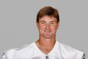 IRVING, TX - 2008:  Brad Johnson of the Dallas Cowboys poses for his 2008 NFL headshot at photo day in Irving, Texas.  (Photo by Getty Images)