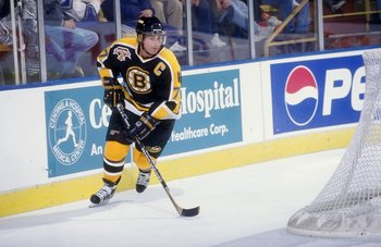 16 Oct 1998:  Defenseman Ray  Bourque #77 of the Boston Bruins in action during a game against the Los Angeles Kings at the Great Western Forum in Inglewood, California. The Kings defeated the Bruins 2-1 in overtime. Mandatory Credit: Elsa Hasch  /Allspor