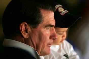 LOS ANGELES, CA - APRIL 09:  Steve Garvey, former Los Angeles Dodgers player, watches the game against the Colorado Rockies on opening day at Dodger Stadium on April 9, 2007 in Los Angeles, California.  (Photo by Stephen Dunn/Getty Images)