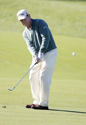 POTOMAC, MD - OCTOBER 08:  Tom Watson hits his third shot on the during the second round of the Constellation Energy Senior Players Championship held at TPC Potomac at Avenel Farm on October 8, 2010 in Potomac, Maryland.  (Photo by Michael Cohen/Getty Ima