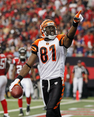 ATLANTA - OCTOBER 24:  Terrell Owens #81 of the Cincinnati Bengals celebrates his touchdown against the Atlanta Falcons at Georgia Dome on October 24, 2010 in Atlanta, Georgia.  (Photo by Kevin C. Cox/Getty Images)
