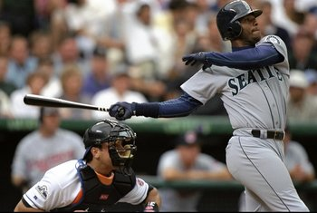 7 Jul 1998:  American League member Ken Griffey Jr. #24 of the Seattle Mariners swings at a pitch during the All-Star Game at Coors Field in Denver, Colorado. The American League defeated the National League 13-8. Mandatory Credit: Brian Bahr  /Allsport