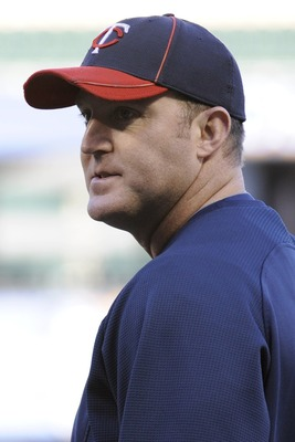 MINNEAPOLIS, MN - OCTOBER 6: Jim Thome #25 of the Minnesota Twins looks on during batting practice prior to game one of the ALDS against the New York Yankees on October 6, 2010 at Target Field in Minneapolis, Minnesota. (Photo by Hannah Foslien/Getty Imag