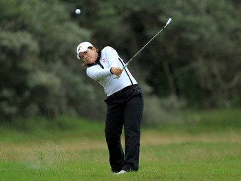 SOUTHPORT, ENGLAND - JULY 30:  Inbee Park of South Korea hits an approach shot during the second round of the 2010 Ricoh Women's British Open at Royal Birkdale on July 30, 2010 in Southport, England.  (Photo by David Cannon/Getty Images)