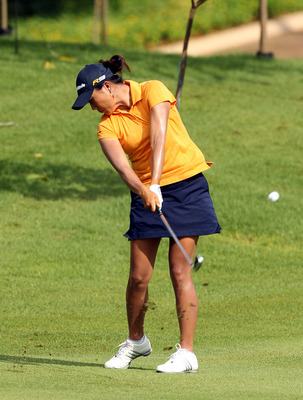 KUALA LUMPUR, MALAYSIA - OCTOBER 24:  Seon Hwa Lee of Korea Repubic hits her 2nd tee shot on the 1st hole during the Final Round of the Sime Darby LPGA on October 24, 2010 at the Kuala Lumpur Golf and Country Club in Kuala Lumpur, Malaysia. (Photo by Stan