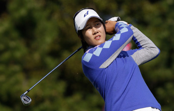 INCHEON, SOUTH KOREA - OCTOBER 31:  Kim Song-Hee of South Korea hits a tee shot on the 3rd hole during the 2010 LPGA Hana Bank Championship at Sky 72 Golf Club on October 31, 2010 in Incheon, South Korea.  (Photo by Chung Sung-Jun/Getty Images)