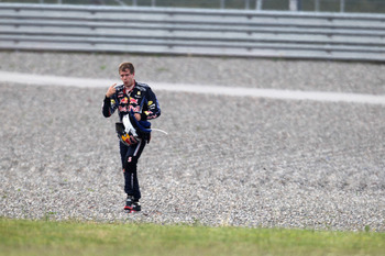 Vettel walking away from his car: A site seen one time too many