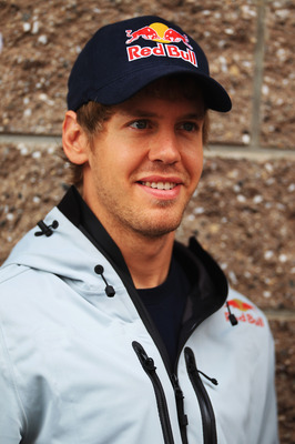 YEONGAM GUN, SOUTH KOREA - OCTOBER 24:  Sebastian Vettel of Germany and Red Bull Racing attends the drivers parade before the Korean Formula One Grand Prix at the Korea International Circuit on October 24, 2010 in Yeongam-gun, South Korea.  (Photo by Mark