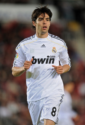 MALLORCA, SPAIN - MAY 05:  Kaka of Real Madrid looks on during the La Liga match between Mallorca and Real Madrid at the ONO Estadio on May 5, 2010 in Mallorca, Spain. Real Madrid won the match 4-1.  (Photo by Jasper Juinen/Getty Images)