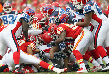 KANSAS CITY, MO - OCTOBER 31:  Fred Jackson #22 of the Buffalo Bills is stopped during the game against the Kansas City Chiefs on October 31, 2010  at Arrowhead Stadium in Kansas City, Missouri.  (Photo by Jamie Squire/Getty Images)