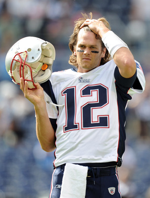 SAN DIEGO - OCTOBER 24:  Tom Brady #12 of the New England Patriots during warm up against the San Diego Chargers at Qualcomm Stadium on October 24, 2010 in San Diego, California.  (Photo by Harry How/Getty Images)