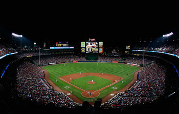 ATLANTA - OCTOBER 11:  A general view of Turner Field during Game Four of the NLDS of the 2010 MLB Playoffs between the Atlanta Braves and San Francisco Giants at Turner Field on October 11, 2010 in Atlanta, Georgia.  (Photo by Kevin C. Cox/Getty Images)
