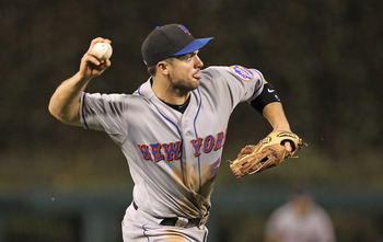 PHILADELPHIA - SEPTEMBER 25: Third baseman David Wright #5 of the New York Mets throws to first base during a game against the Philadelphia Phillies at Citizens Bank Park on September 25, 2010 in Philadelphia, Pennsylvania. The Mets won 5-2. (Photo by Hun