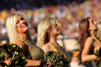 BOULDER, CO - NOVEMBER 07:  Members of the Colorado Buffaloes dance team perform as the Buffs face the Texas A&M Aggies during NCAA college football action at Folsom Field on November 7, 2009 in Boulder, Colorado. Colorado defeated Texas A&M 35-34.  (Phot