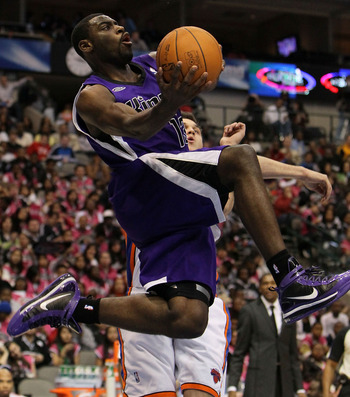 DALLAS - FEBRUARY 12:  Tyreke Evans #13 of the Rookie team shoots against the Sophomore team during the second half of the T-Mobile Rookie Challenge & Youth Jam part of 2010 NBA All-Star Weekend at American Airlines Center on February 12, 2010 in Dallas,