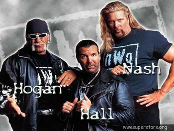 The nWo was an innovative angl... ... ... ... in 1996! It peaked in 1998 and became stale in 1999! TNA should quit recycling this angle!