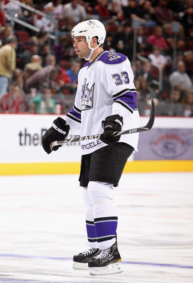GLENDALE, AZ - OCTOBER 21:  Willie Mitchell #33 of the Los Angeles Kings in action during the NHL game against the Phoenix Coyotes at Jobing.com Arena on October 21, 2010 in Glendale, Arizona. The Coyotes defeated the Kings 4-2.  (Photo by Christian Peter