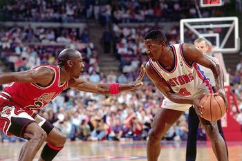MJ on the Detroit Piston's Joe Dumars