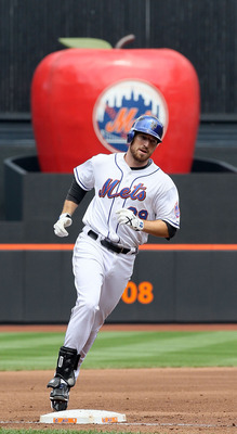 NEW YORK - JULY 29:  Ike Davis #29 of the New York Mets runs the bases after his third inning three run home run against the St. Louis Cardinals on July 29, 2010 at Citi Field in the Flushing neighborhood of the Queens borough of New York City.  (Photo by
