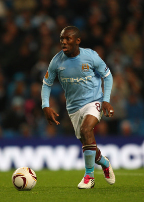 MANCHESTER, ENGLAND - OCTOBER 21:  Manchester City striker Shaun Wright-Phillips in action during the UEFA Europa League Group A match between Manchester City and KKS Lech Poznan at City of Manchester Stadium on October 21, 2010 in Manchester, England.  (