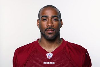 LANDOVER, MD - 2009:  DeAngelo Hall of the Washington Redskins poses for his 2009 NFL headshot at photo day in Landover, Maryland.  (Photo by NFL Photos)
