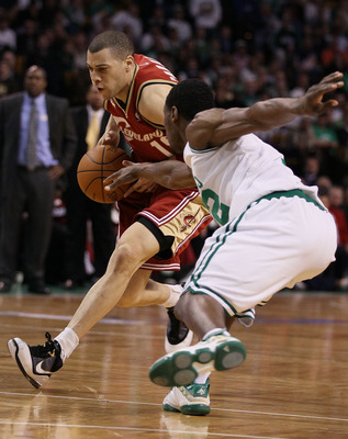 BOSTON - MAY 13:  Anthony Parker #18 of the Cleveland Cavaliers tries to keep the ball from Tony Allen #42 of the Boston Celtics during Game Six of the Eastern Conference Semifinals of the 2010 NBA playoffs at TD Garden on May 13, 2010 in Boston, Massachu